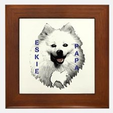 Eskie papa Framed Tile