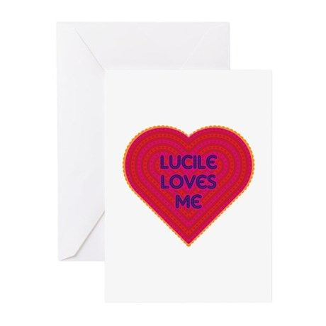 Lucile Loves Me Greeting Cards (Pk of 10)