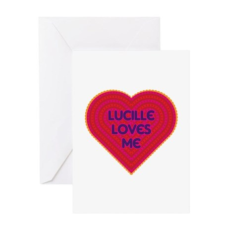Lucille Loves Me Greeting Card