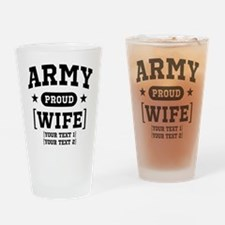 Army Wife/Aunt/Uncle Drinking Glass