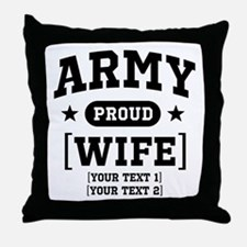 Army Wife/Aunt/Uncle Throw Pillow