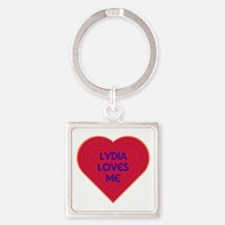 Lydia Loves Me Square Keychain