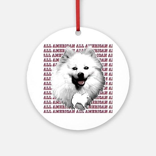 all american eskimo dog Ornament (Round)