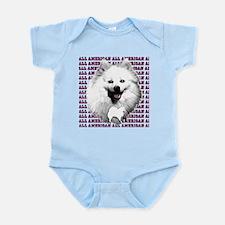 all american eskimo dog Infant Bodysuit