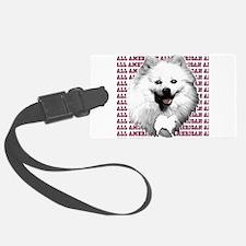 all american eskimo dog Luggage Tag