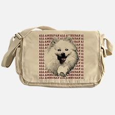 all american eskimo dog Messenger Bag