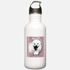 all american eskimo dog Sports Water Bottle