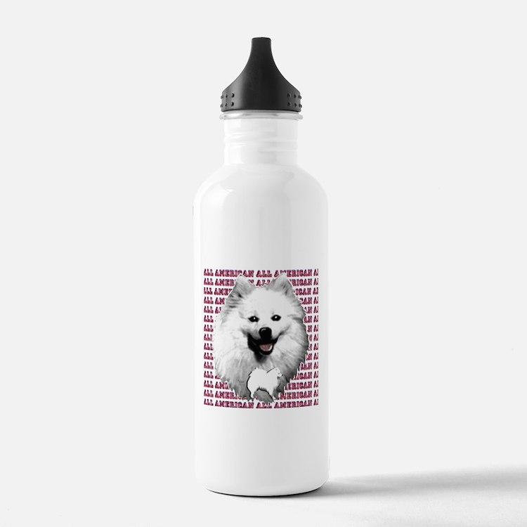 all american eskimo dog Water Bottle