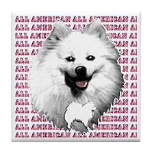 all american eskimo dog Tile Coaster