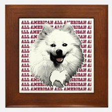 all american eskimo dog Framed Tile