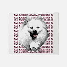 all american eskimo dog Throw Blanket