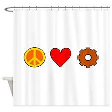 Peace Love Engineering Shower Curtain