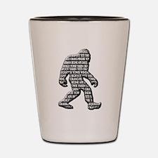 Bigfoot Yowie Sasquatch Skunk Ape Yeti Shot Glass