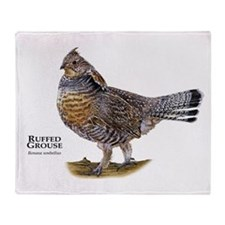 Ruffed Grouse Throw Blanket