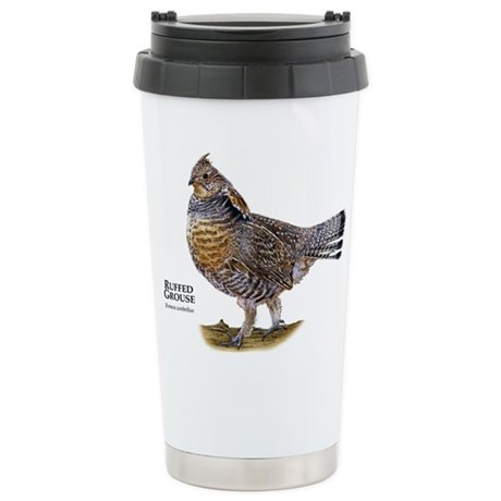 Ruffed Grouse Stainless Steel Travel Mug
