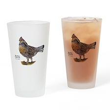 Ruffed Grouse Drinking Glass