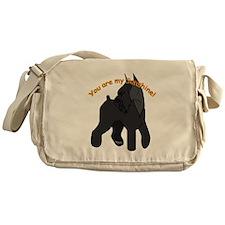 giant schnauzer, schnauzer Messenger Bag