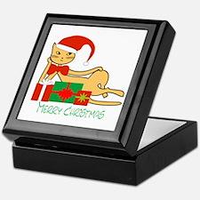 Santa cat - Keepsake Box