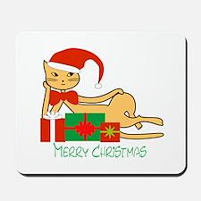 Santa cat - Mousepad