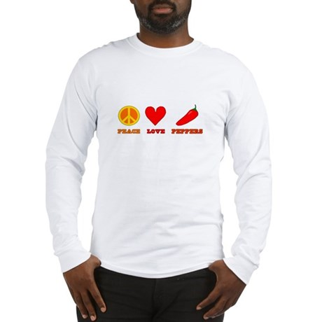 Peace Love Peppers Long Sleeve T-Shirt