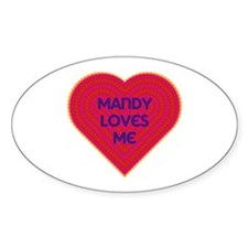 Mandy Loves Me Decal