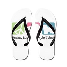 Cute Peace love pets Flip Flops