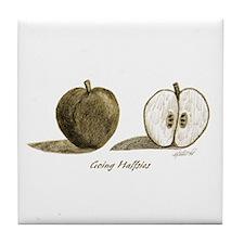 Going Halfsies Apple Tile Coaster