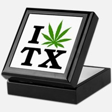I Love Cannabis Texas Keepsake Box