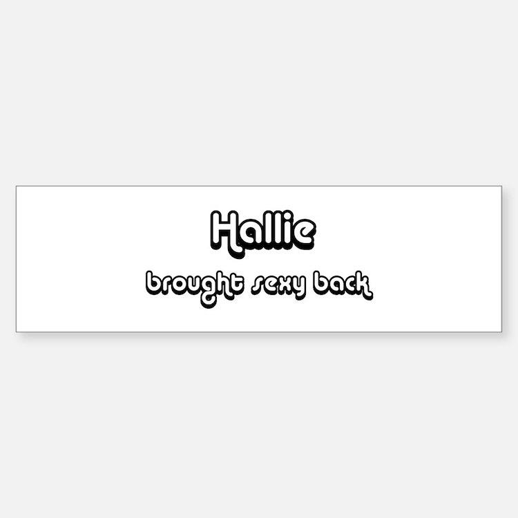 Sexy: Hallie Bumper Car Car Sticker