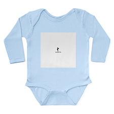 black bottom Long Sleeve Infant Bodysuit