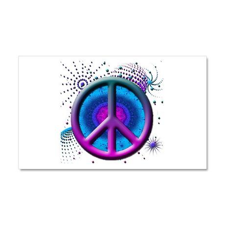 Peace symbol (fushia) Car Magnet 20 x 12