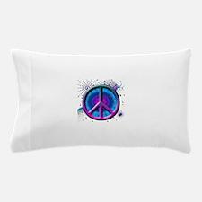 Peace symbol (fushia) Pillow Case