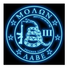 """Come and Take It (Blueglow) Square Car Magnet 3"""" x"""