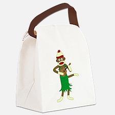 Sock Monkey Ukulele Canvas Lunch Bag