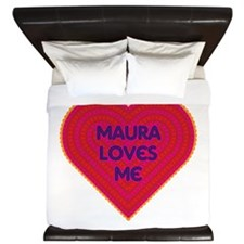 Maura Loves Me King Duvet