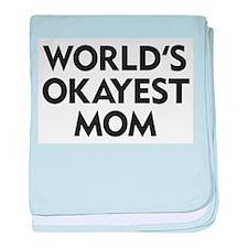 World's Okayest Mom baby blanket