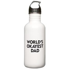 World's Okayest Dad Water Bottle