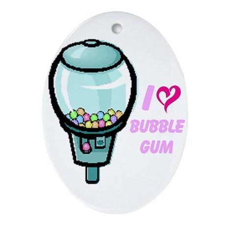 bubble gum day Ornament (Oval)