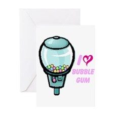 bubble gum day Greeting Card