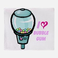 bubble gum day Throw Blanket