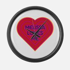 Melissa Loves Me Large Wall Clock