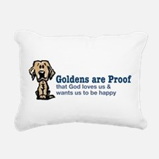 Goldens are Proof Rectangular Canvas Pillow