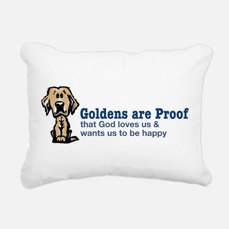 Goldens are Proof Rectangular Canvas Pillow