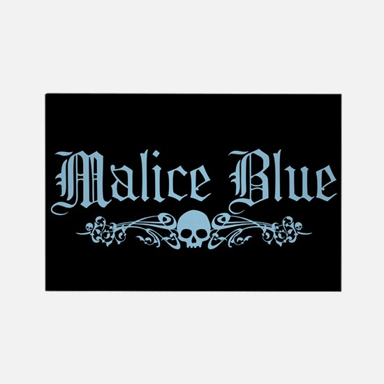 Malice Blue Rectangle Magnet
