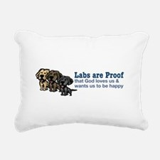Labs are Proof Rectangular Canvas Pillow