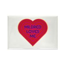 Mildred Loves Me Rectangle Magnet