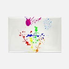 Colorful Splatter Rectangle Magnet