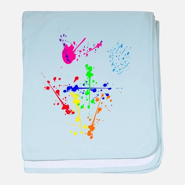 Colorful Splatter baby blanket