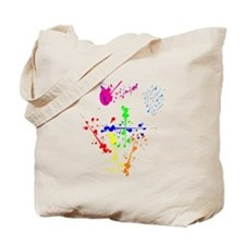Colorful Splatter Tote Bag