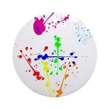 Colorful Splatter Ornament (Round)